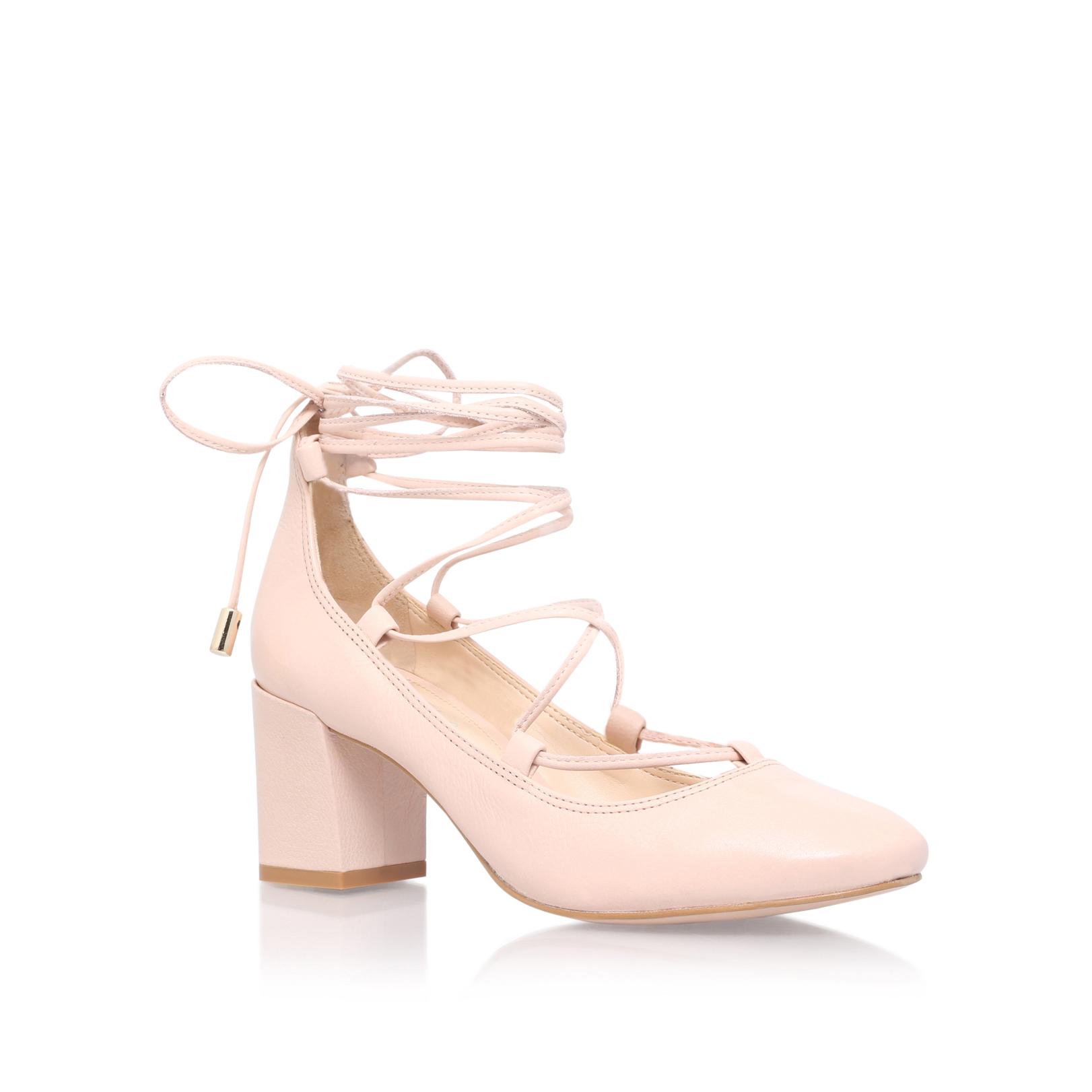 pale pink mid heel shoes ha heel