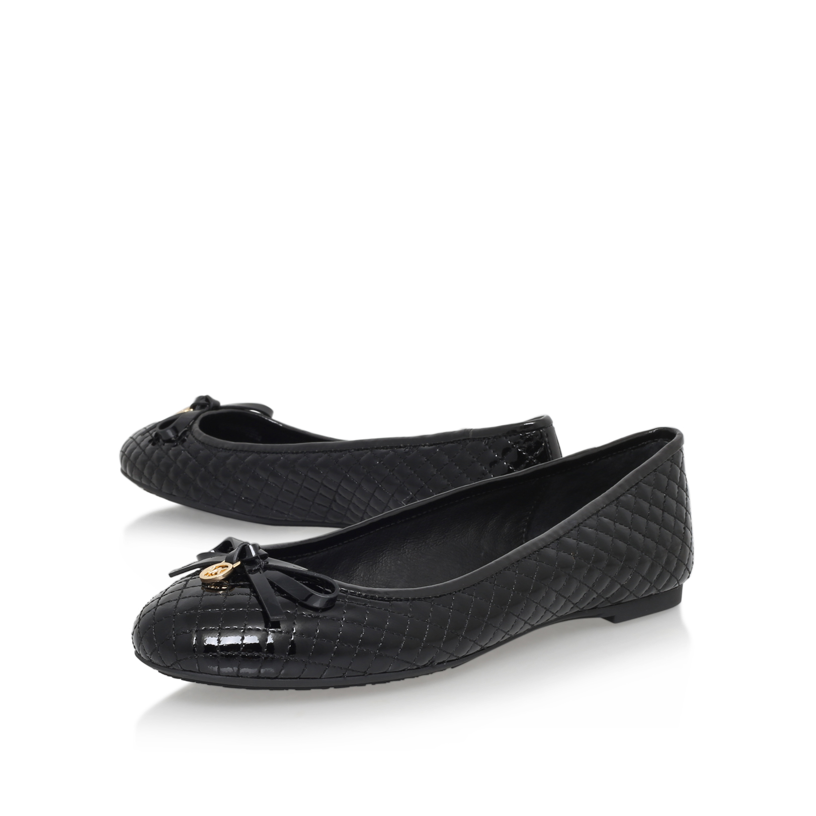 melody quilted ballet michael michael kors melody quilted ballet black patent flats by michael. Black Bedroom Furniture Sets. Home Design Ideas