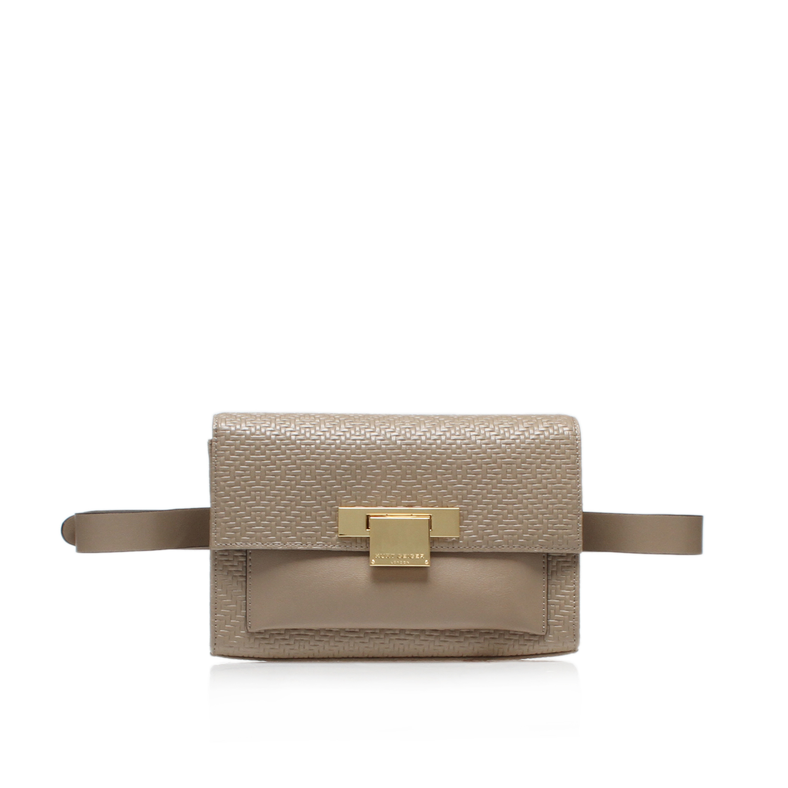 WOVEN ANNIE BELTED BAG