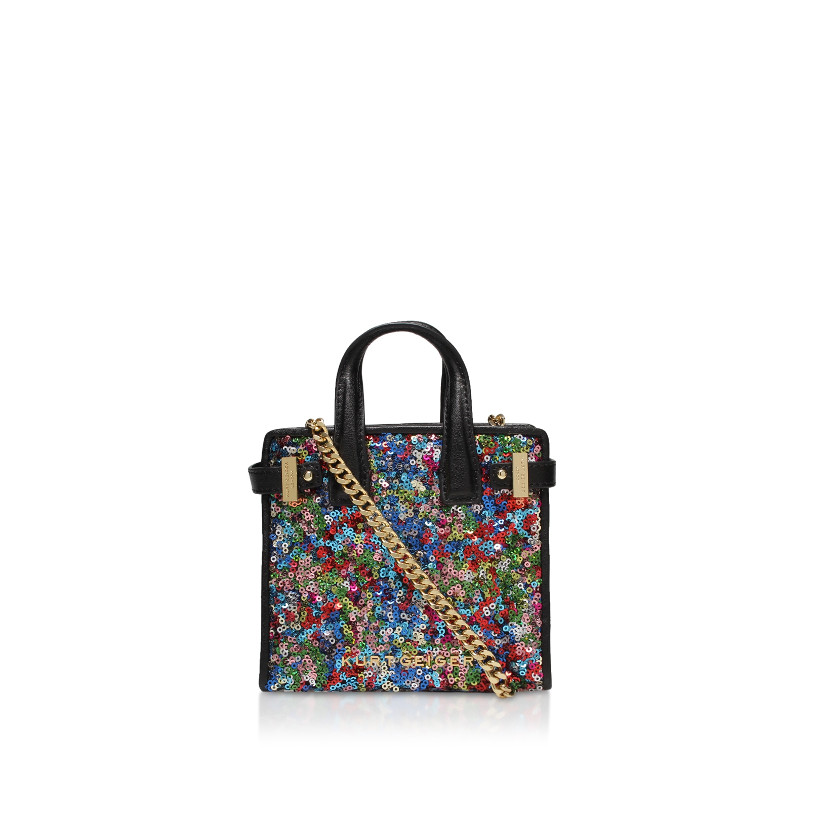 SEQUINS MICRO LONDON TOTE