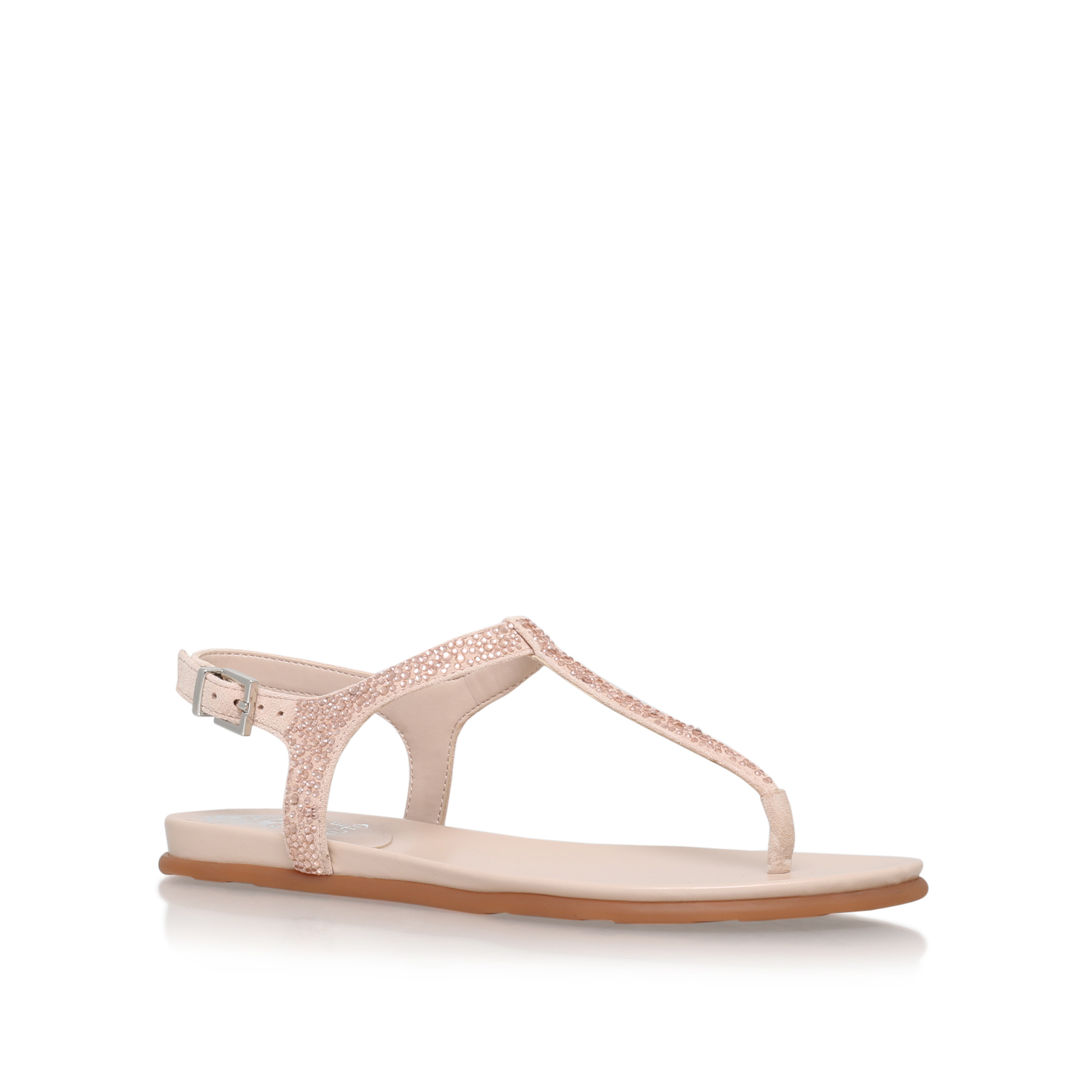 00f1c324926b EMMIL Vince Camuto Emmil Nude Suede Flat Sandals by VINCE CAMUTO