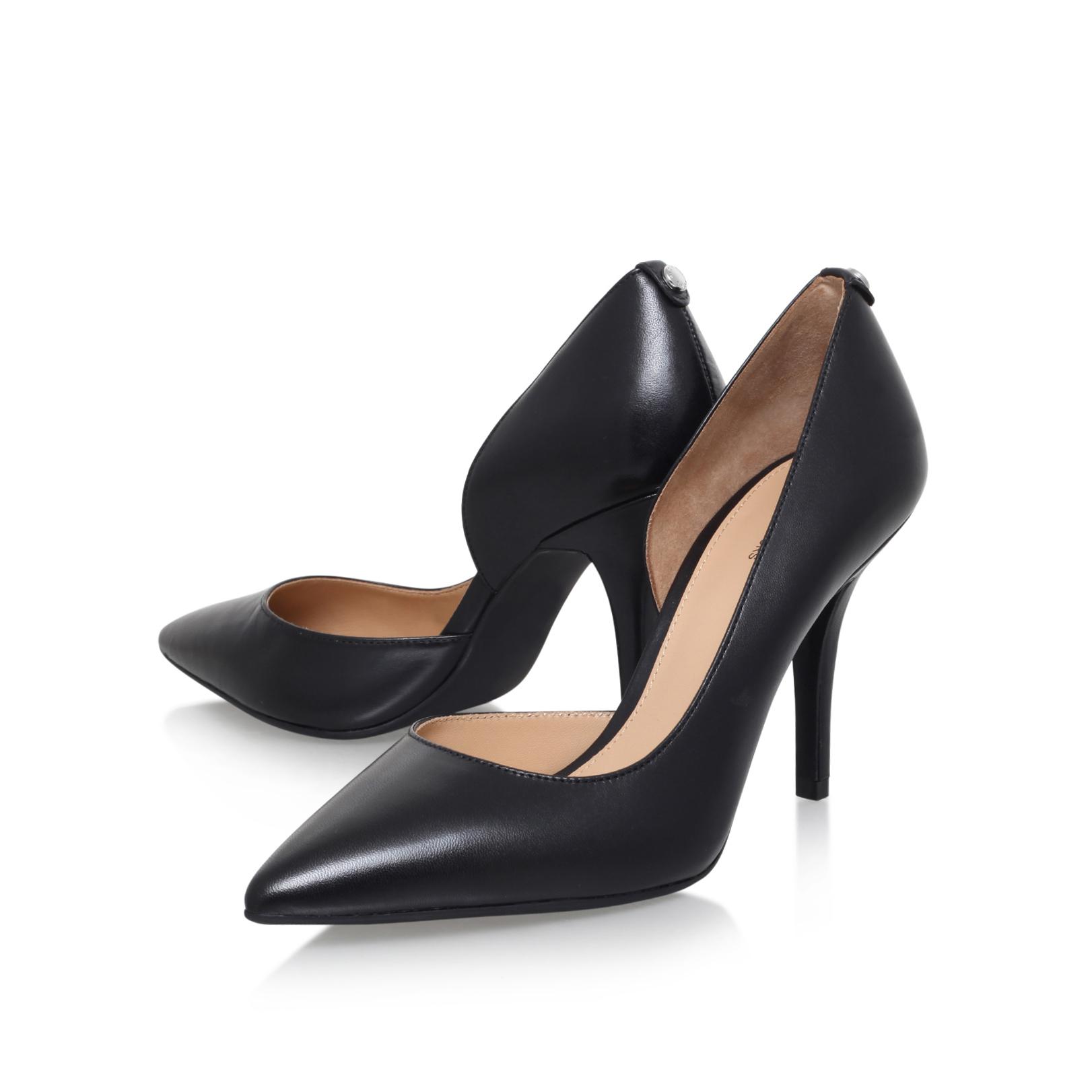 6281b281d9fc ... NATHALIE FLEX HIGH PUMP Michael Michael Kors Nathalie Black High Heel  Court Shoes by MICHAEL MICHAEL ...