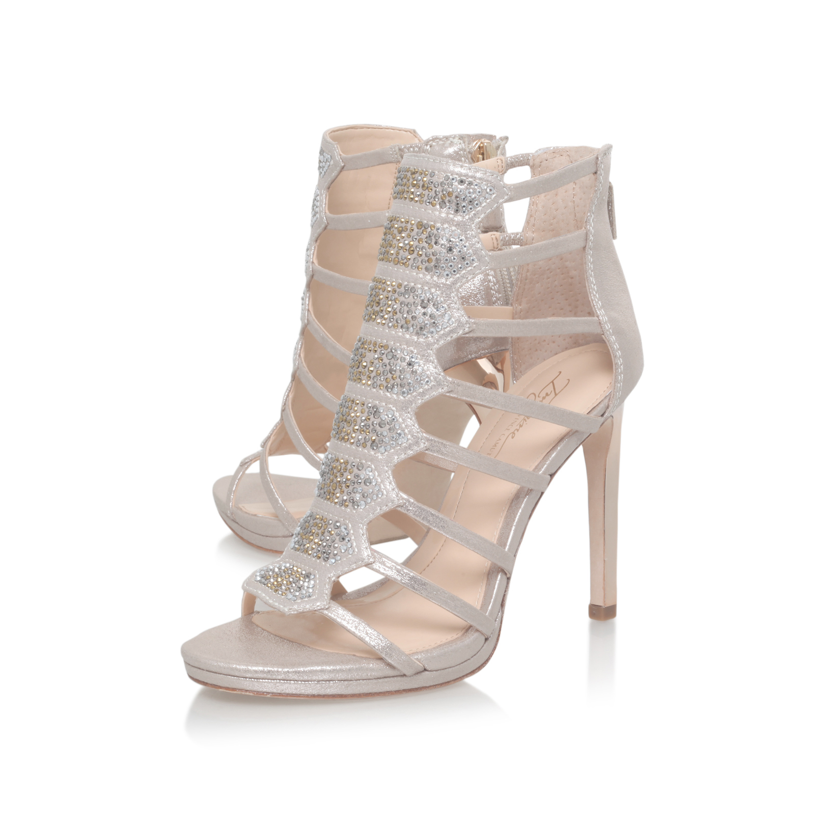Vince Camuto Gavin Gold High Heel Sandals By Imagine