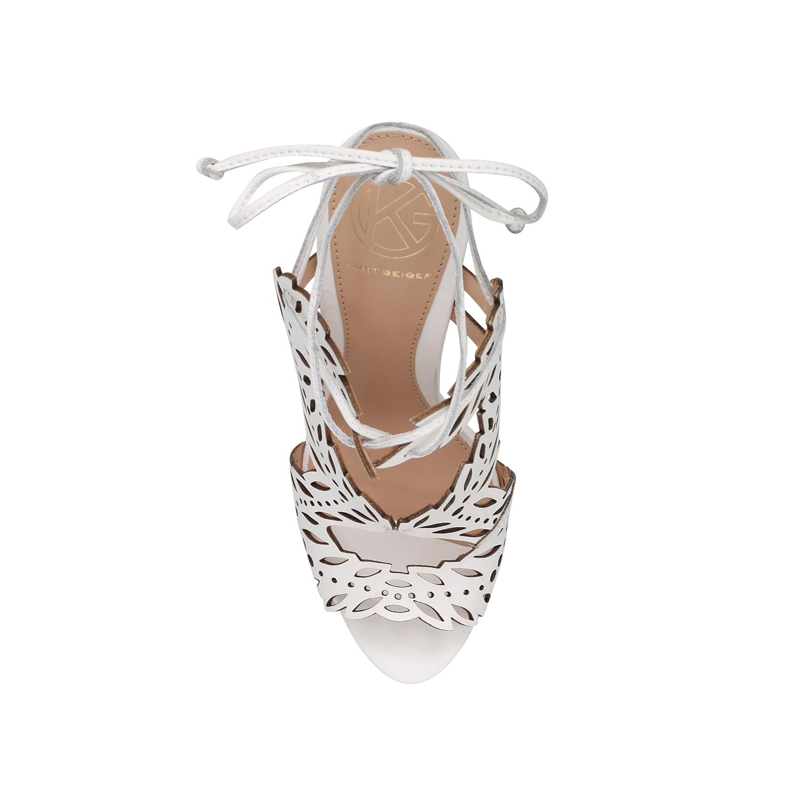 d7775a220ea HORATIO KG Kurt Geiger Horatio White Leather High Heel Sandals by KG ...