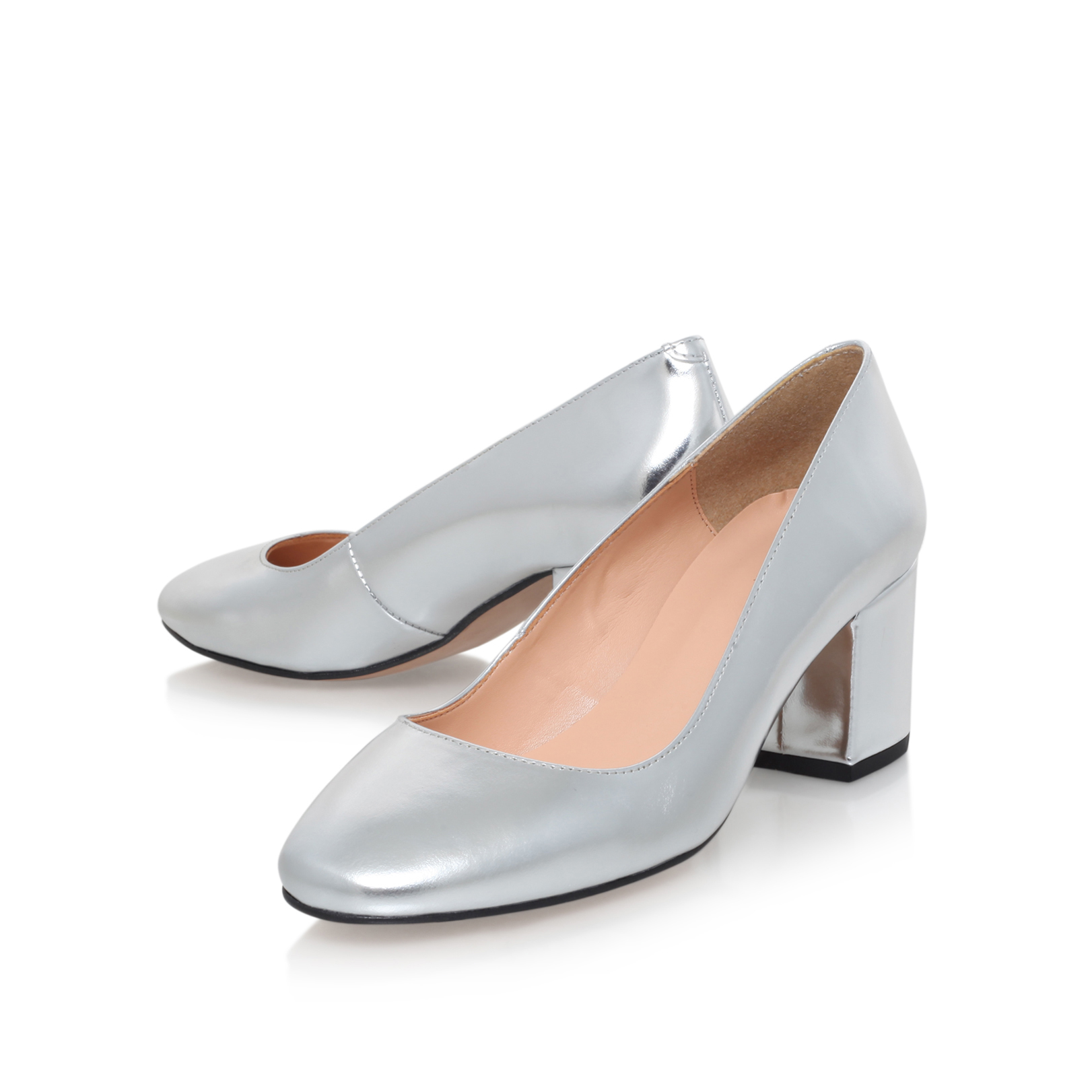 Silver Mid Heel Shoes Next