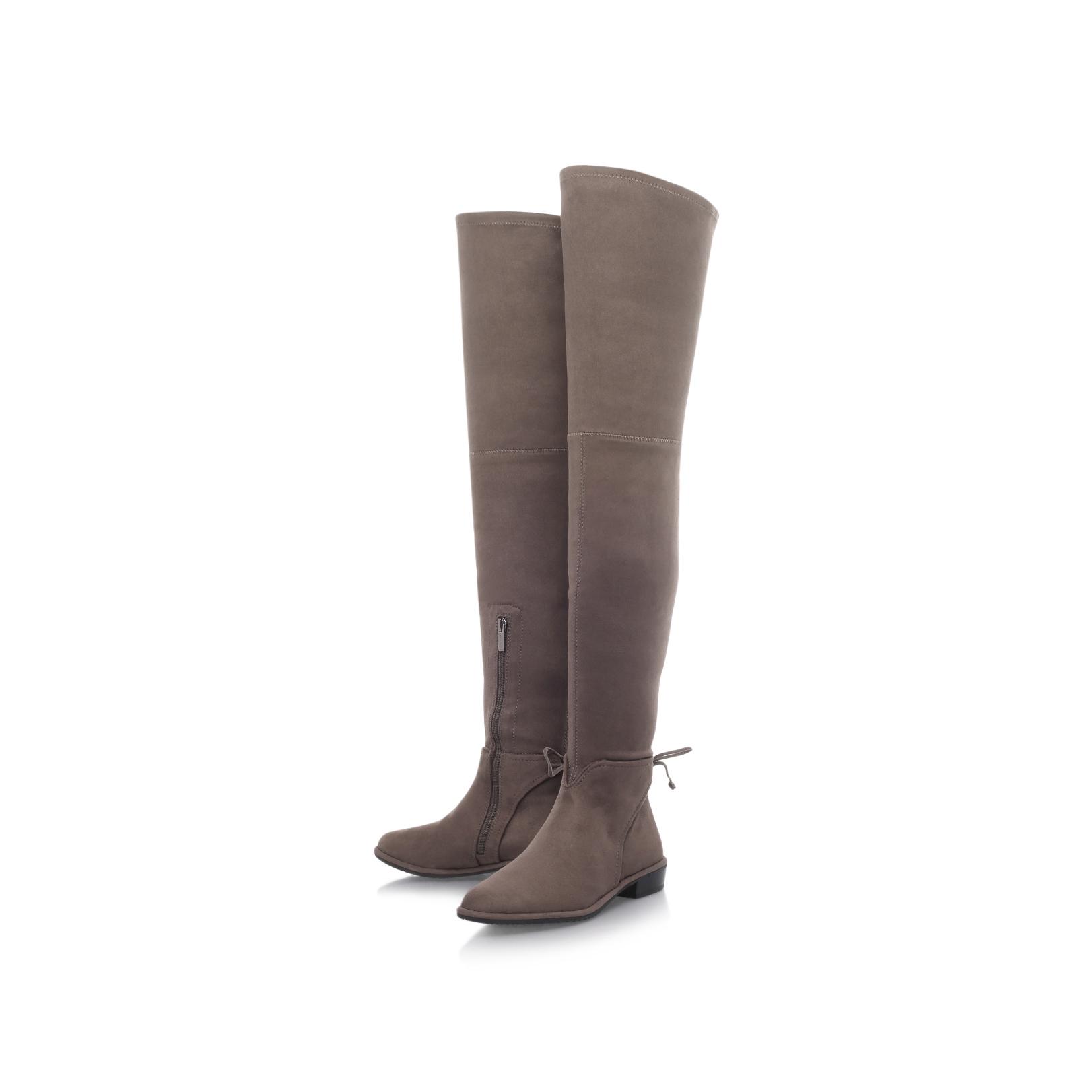 CADDEA Vince Camuto Caddea Mid Grey Low Heel High Leg Boots by VINCE CAMUTO