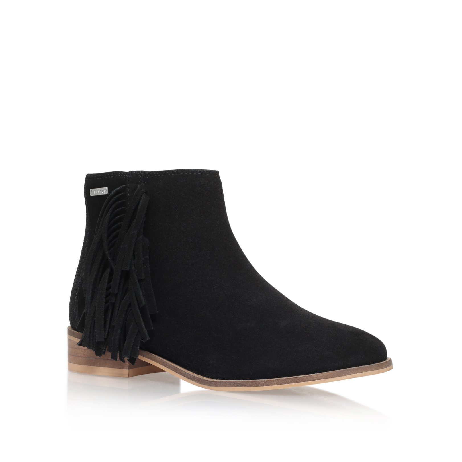 SUEDE TASSLE ANKLE BOOT