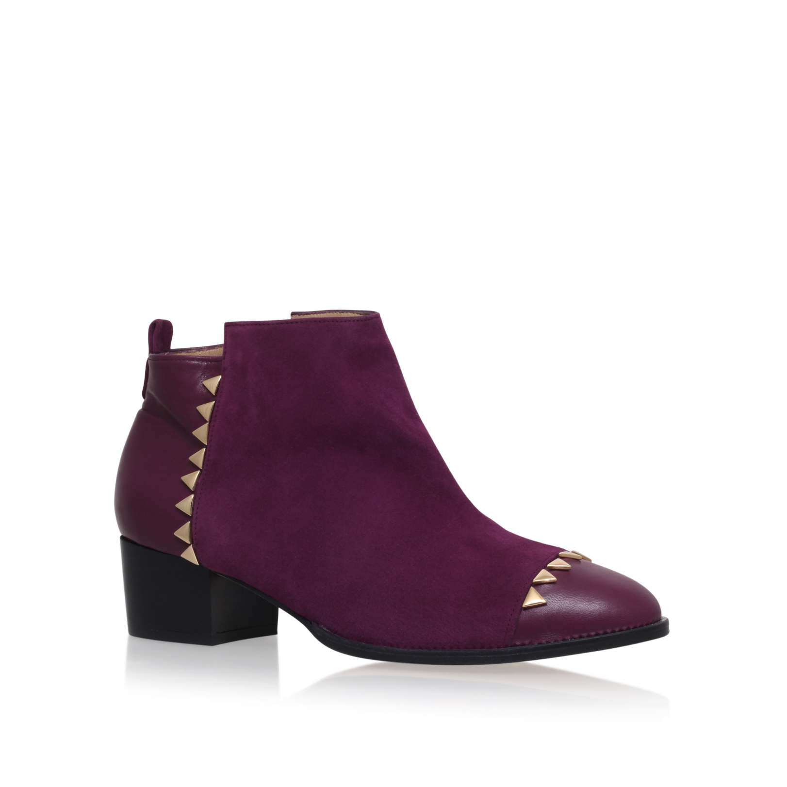 SUEDE ANKLE BOOT TOE CAP