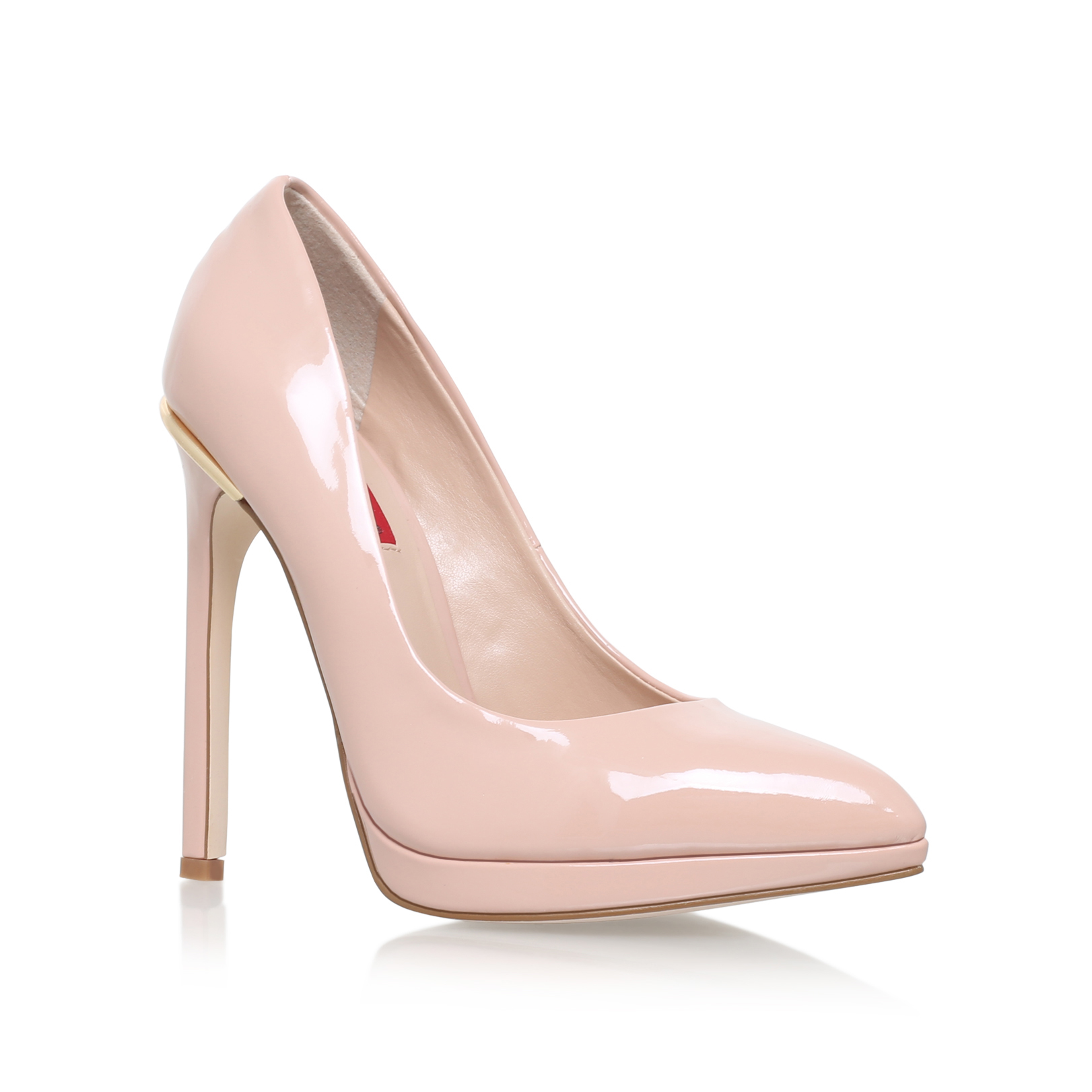 HEELED COURT SHOE