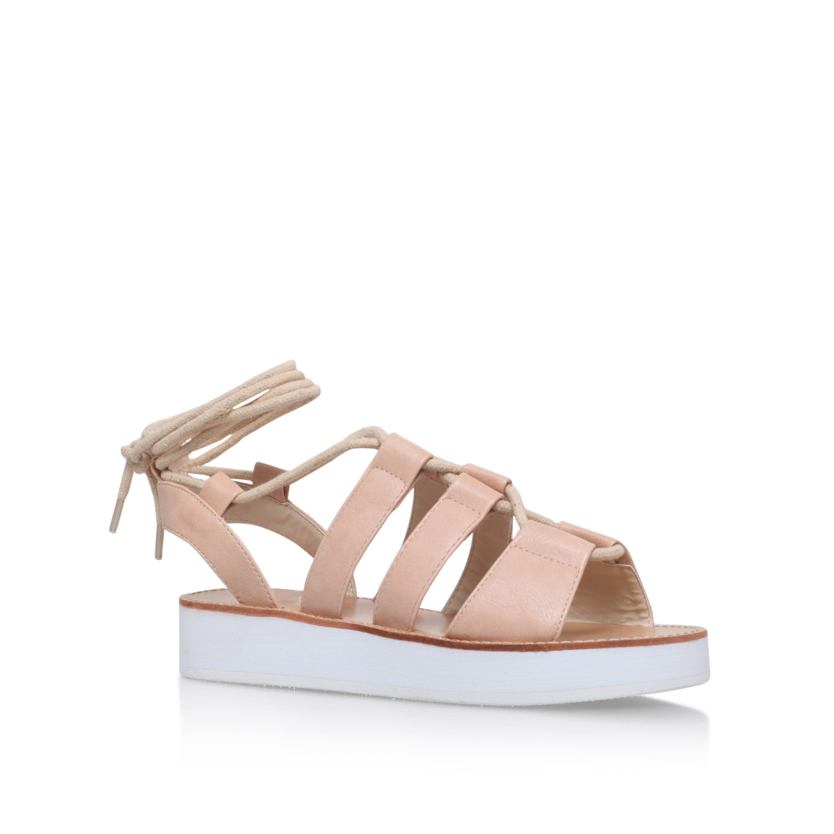 FLATFORM LACE UP SANDAL