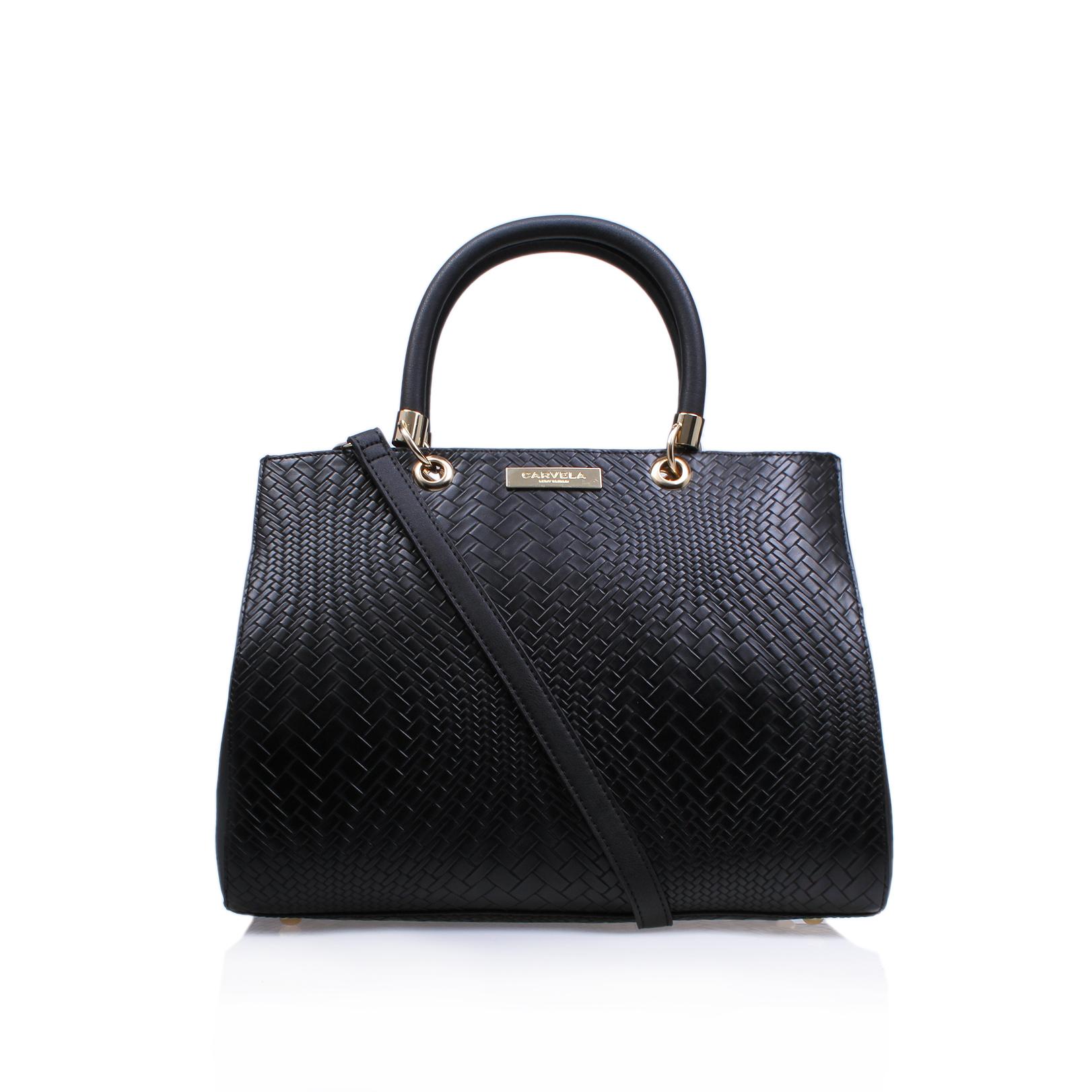 e199d8e901c2 DARLA TEXTURED TOTE Carvela Darla Textured Tote Black Handbag by ...