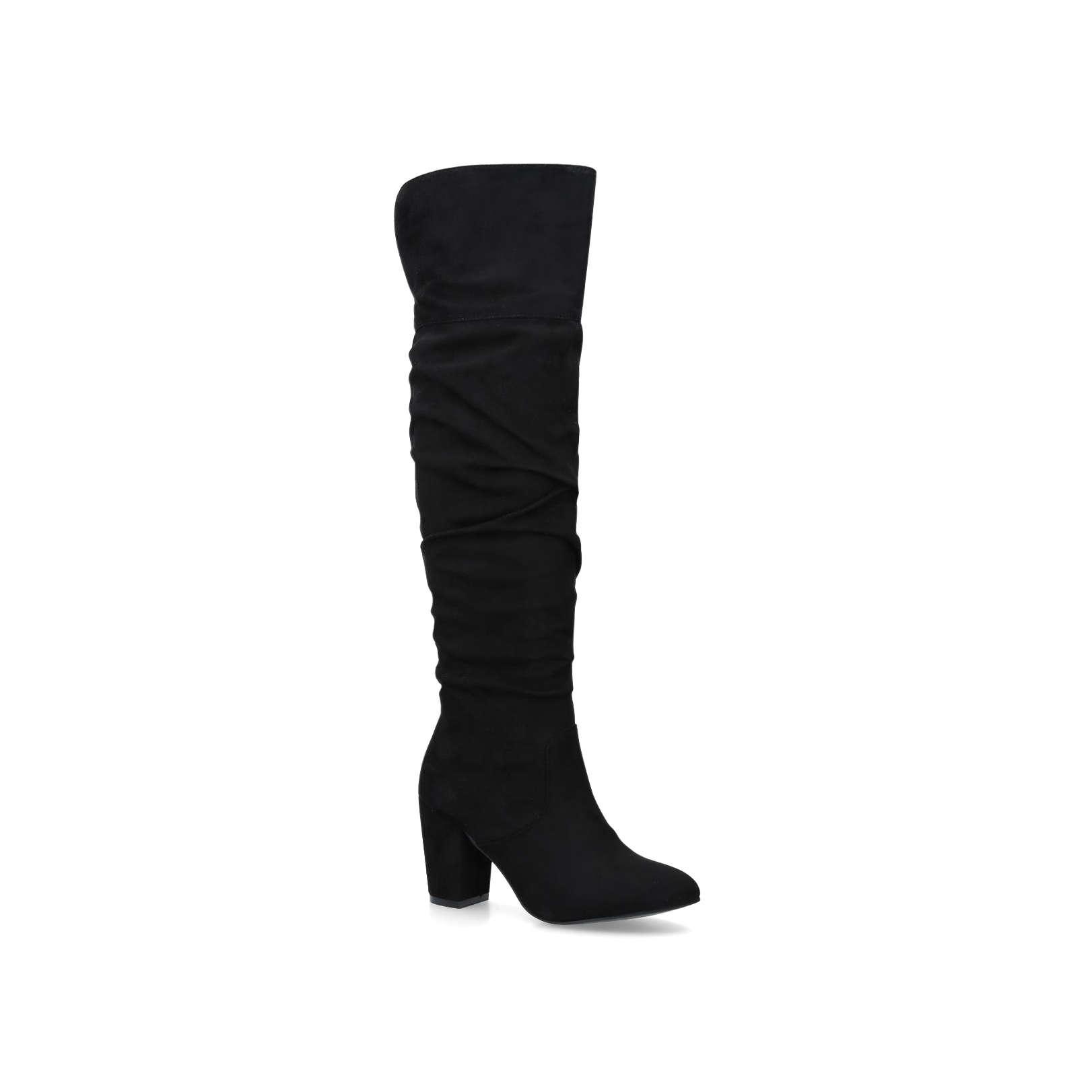 d406aebb02a HEALEY Healey Miss Kg High Leg Boots 50 Mm Heel Black Heel Over The ...