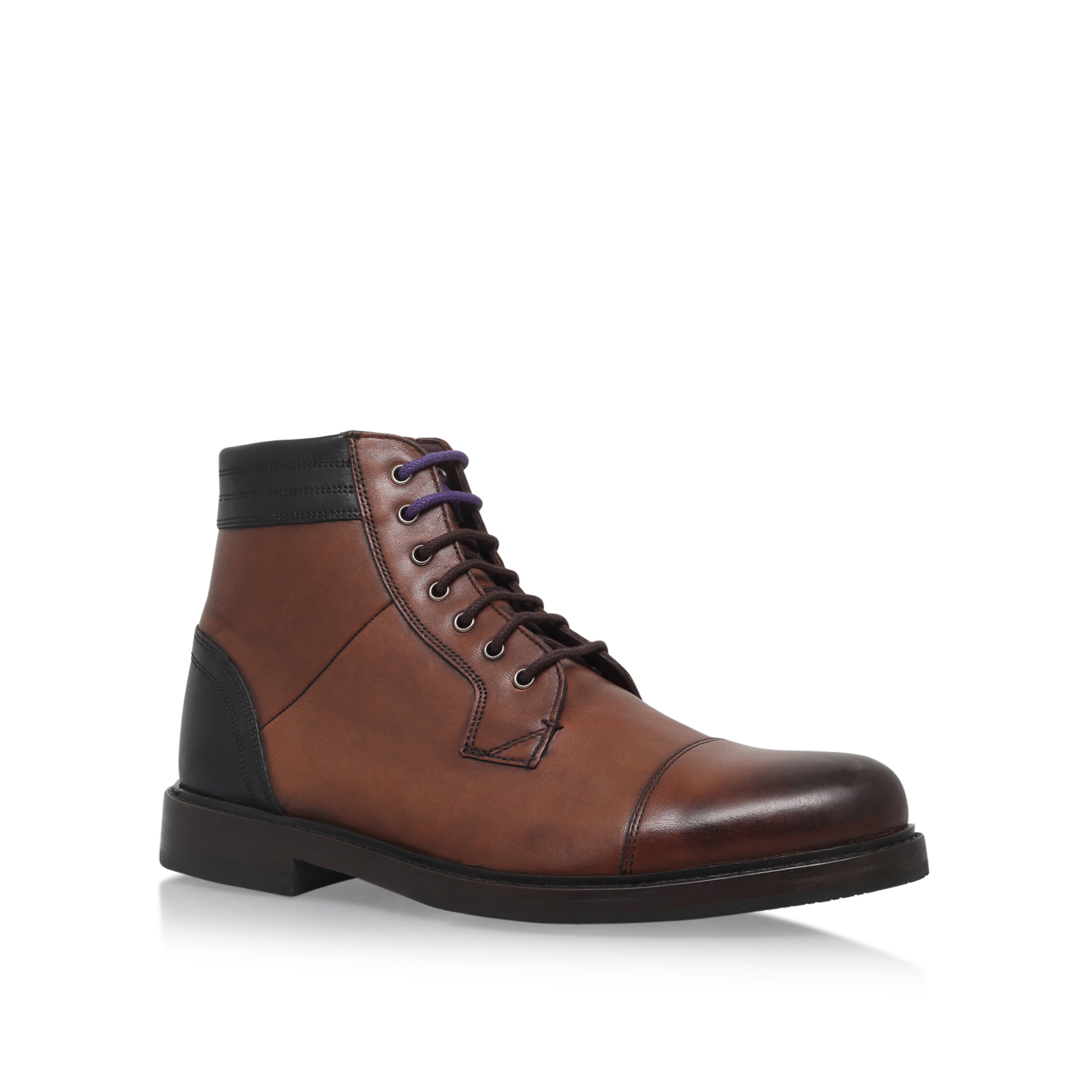 LEATHER LACE UP ANKLE