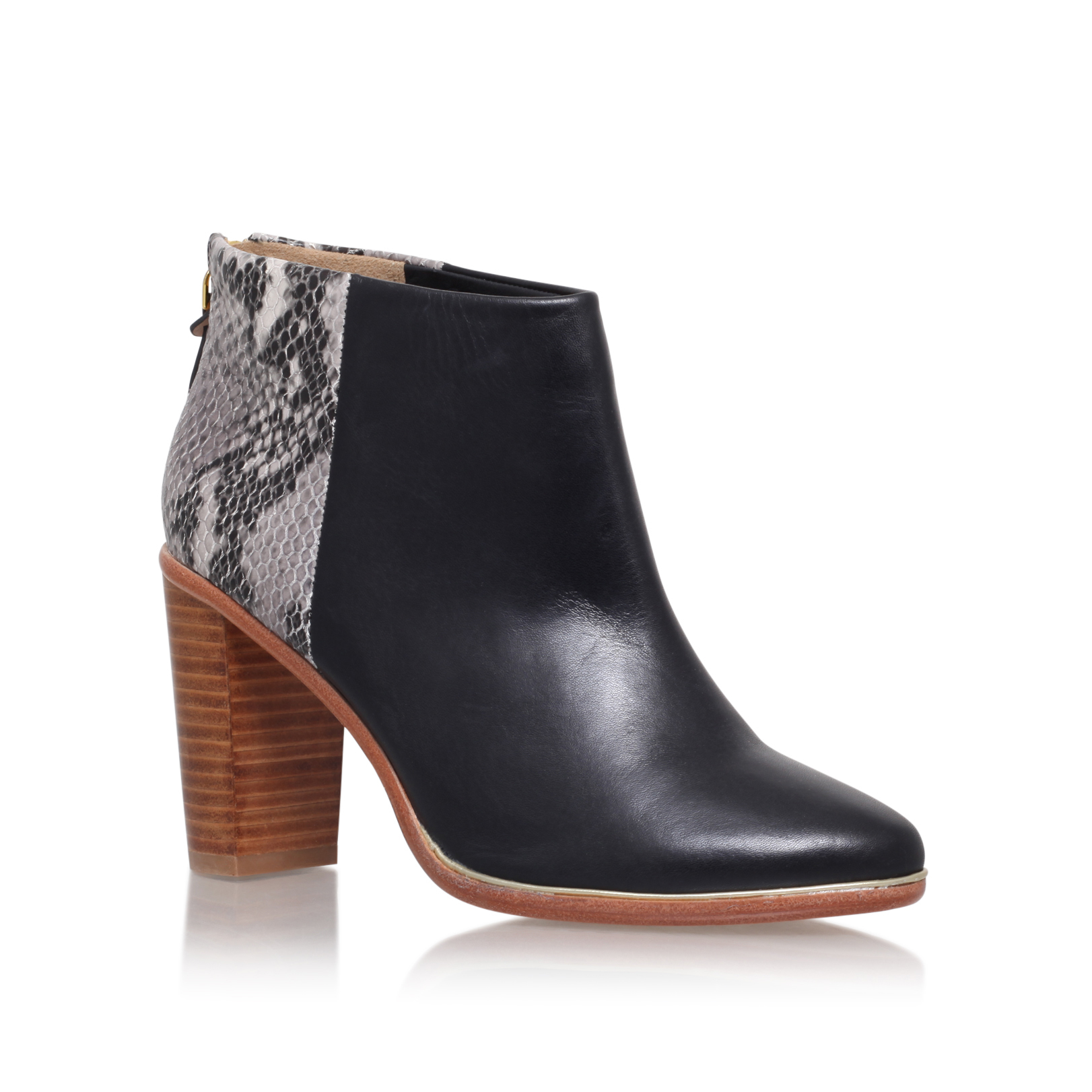 CONTRAST SNKE ANKLE BOOT