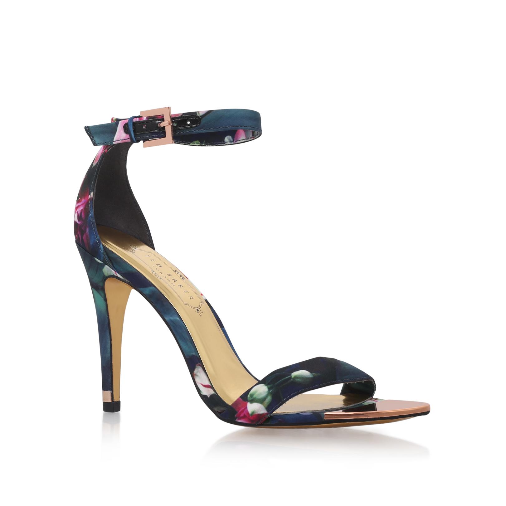 FLORAL ANKLE STRAP SANDAL Ted Baker Floral Ankle Strap Sandals Pink by TED  BAKER