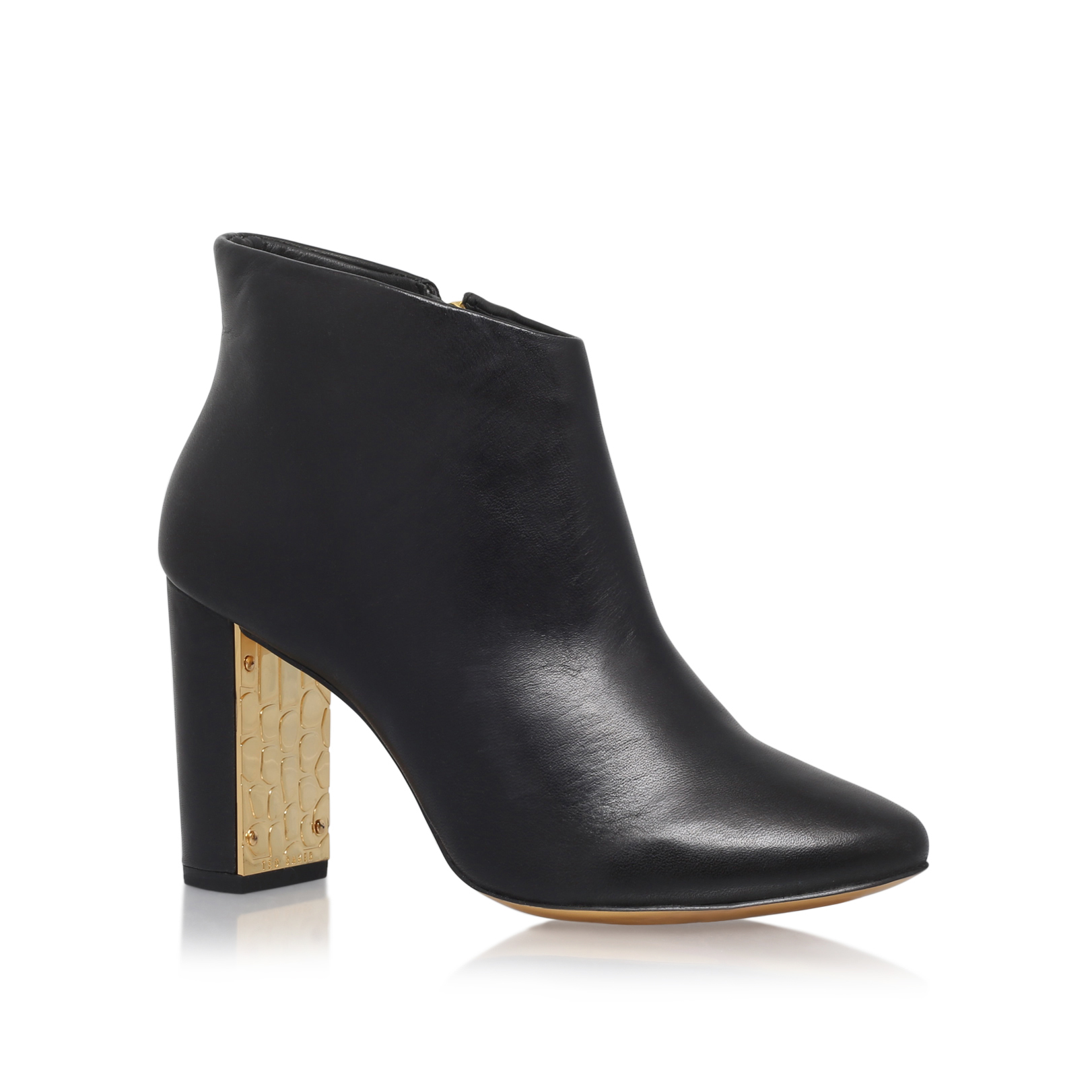 GLD CNTRST HEEL ANKL BOOT