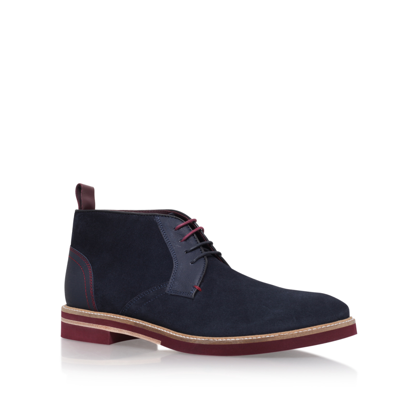 SUEDE CONTRAST SOLE BOOT