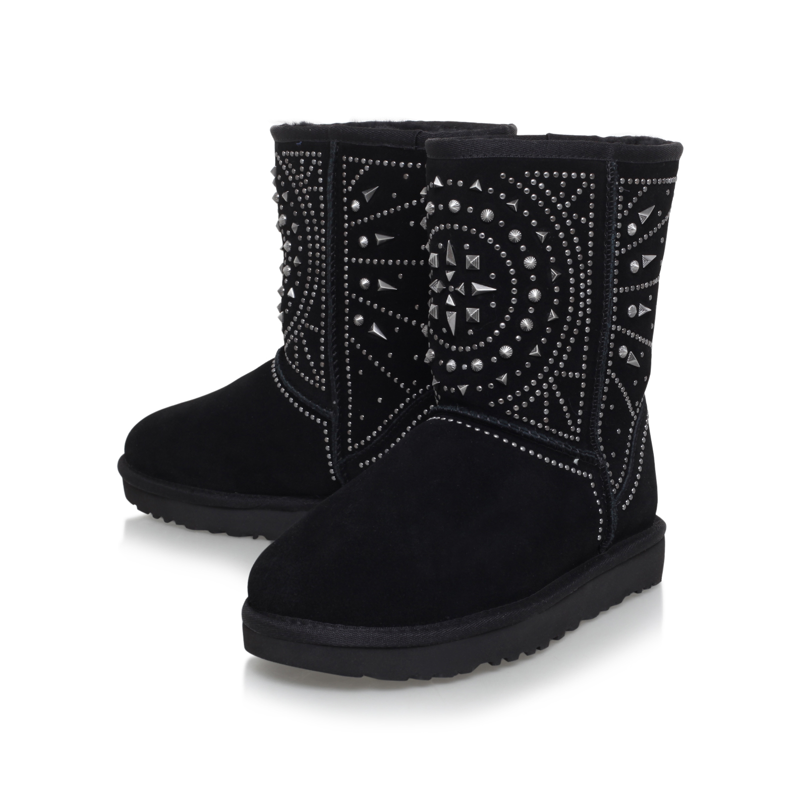 FIORE DECO STUDS Ugg Fiore Deco Studs Black Suede Ankle Boots by UGG  AUSTRALIA