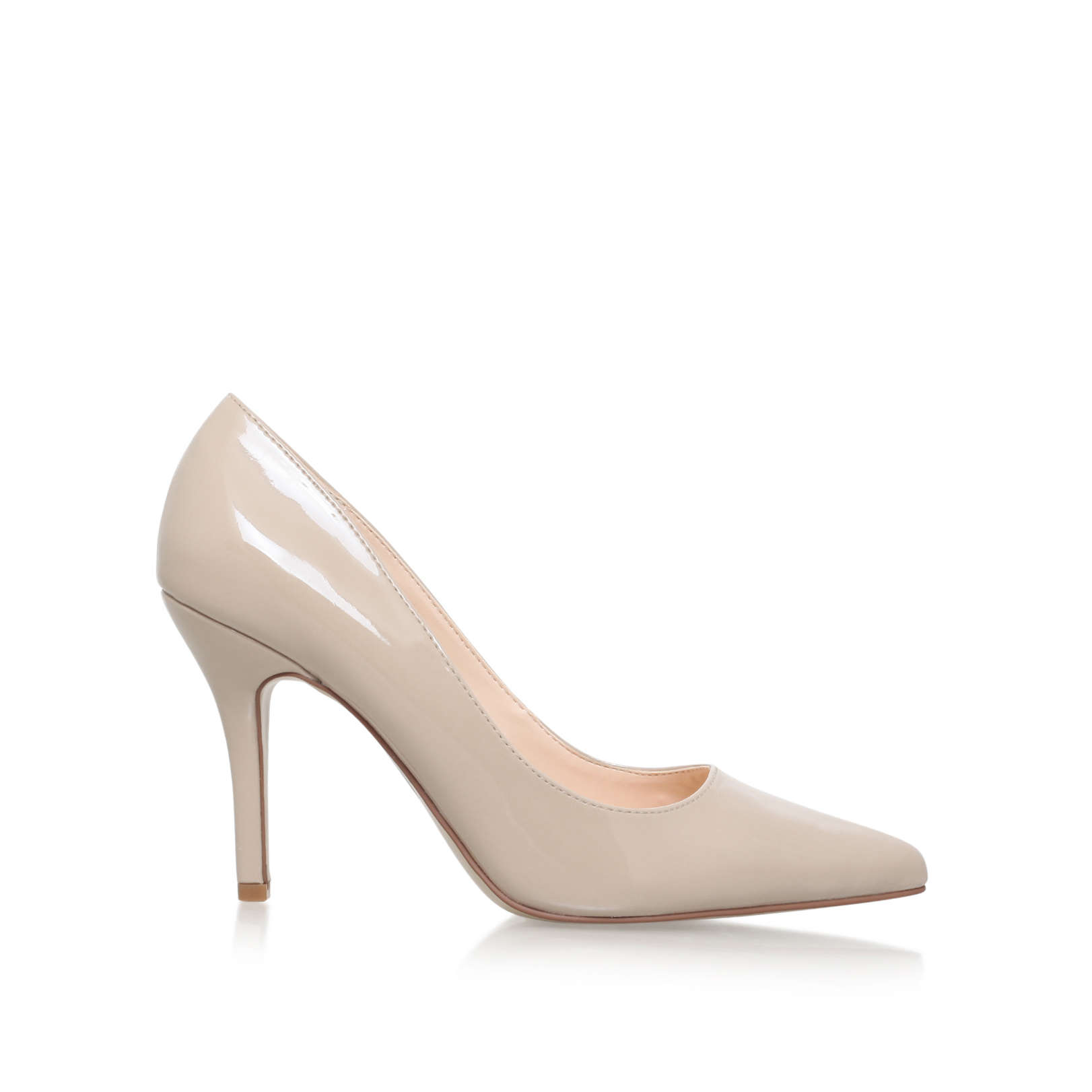 FLAGSHIP Nine West Flagship Nude Patent High Heel Court Shoes by NINE WEST
