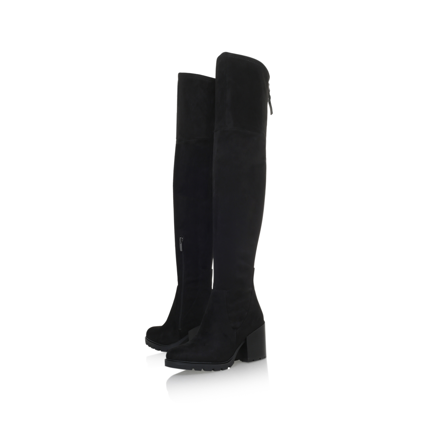 ea0be1c5618 SAWYER  Kendall   Kylie Sawyer Black Suede High Leg Boot  by KENDALL ...
