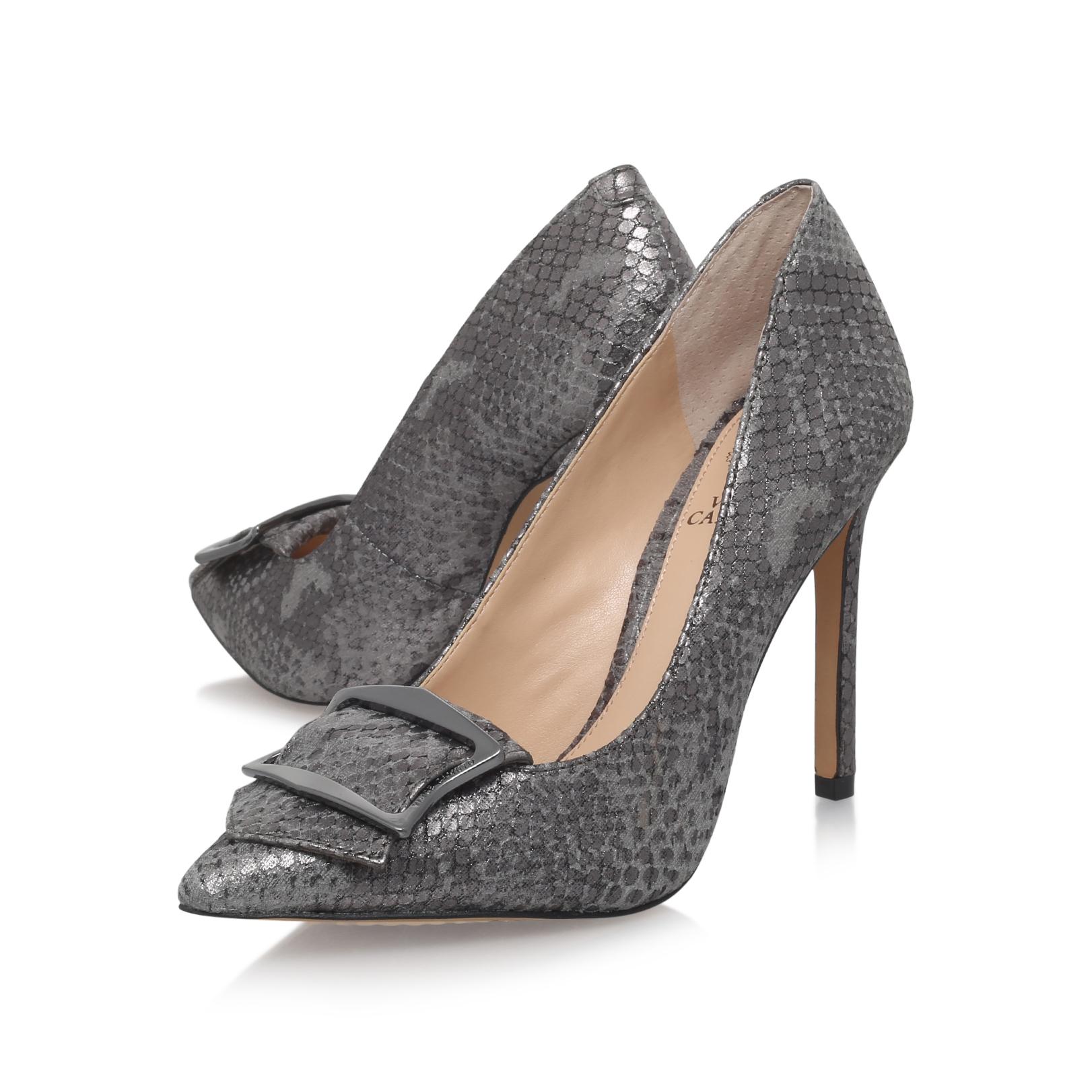 Nancita2 Vince Camuto Nancita2 Pewter Leather High Heel