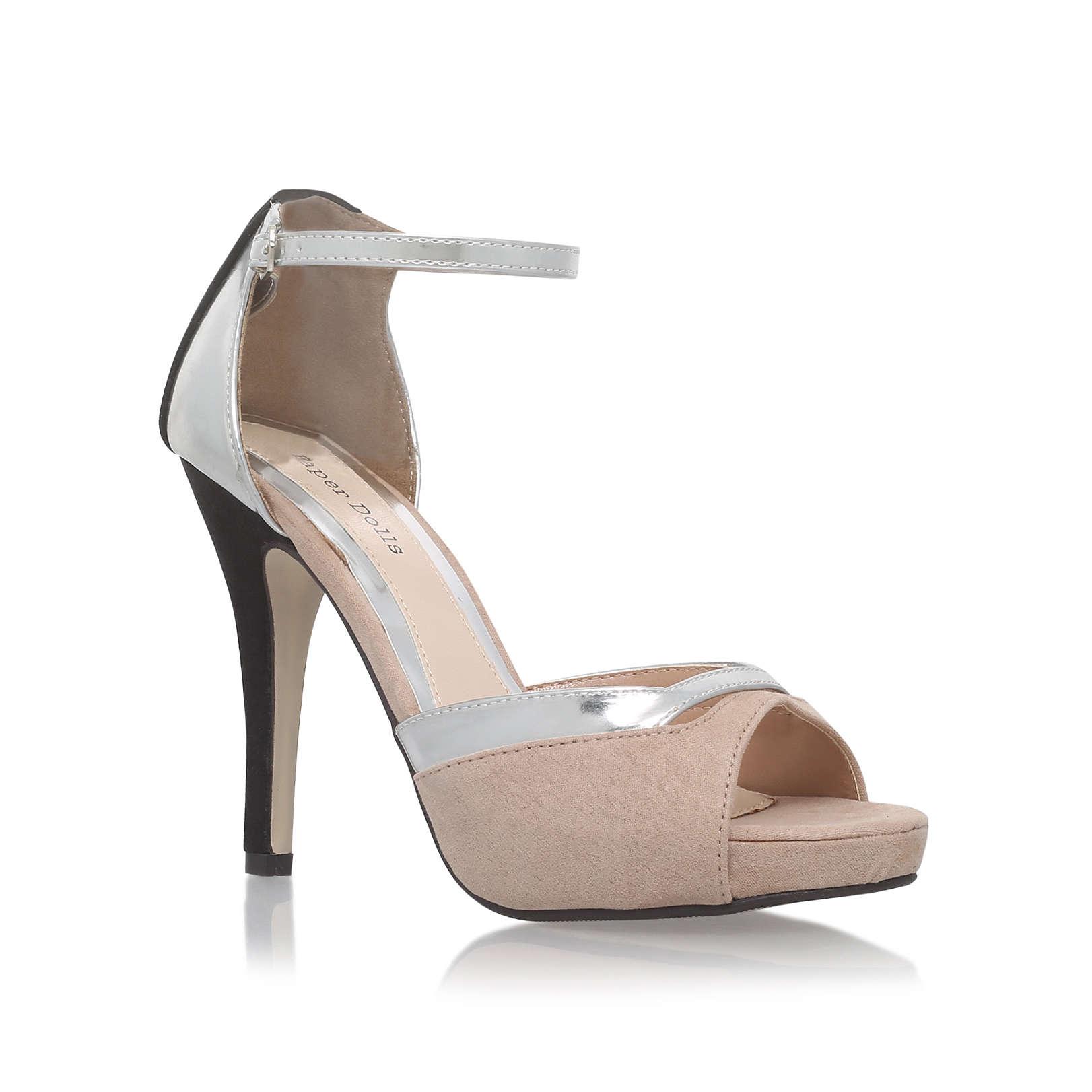 josie paper dolls josie beige high heel occasion shoes by paper dolls. Black Bedroom Furniture Sets. Home Design Ideas