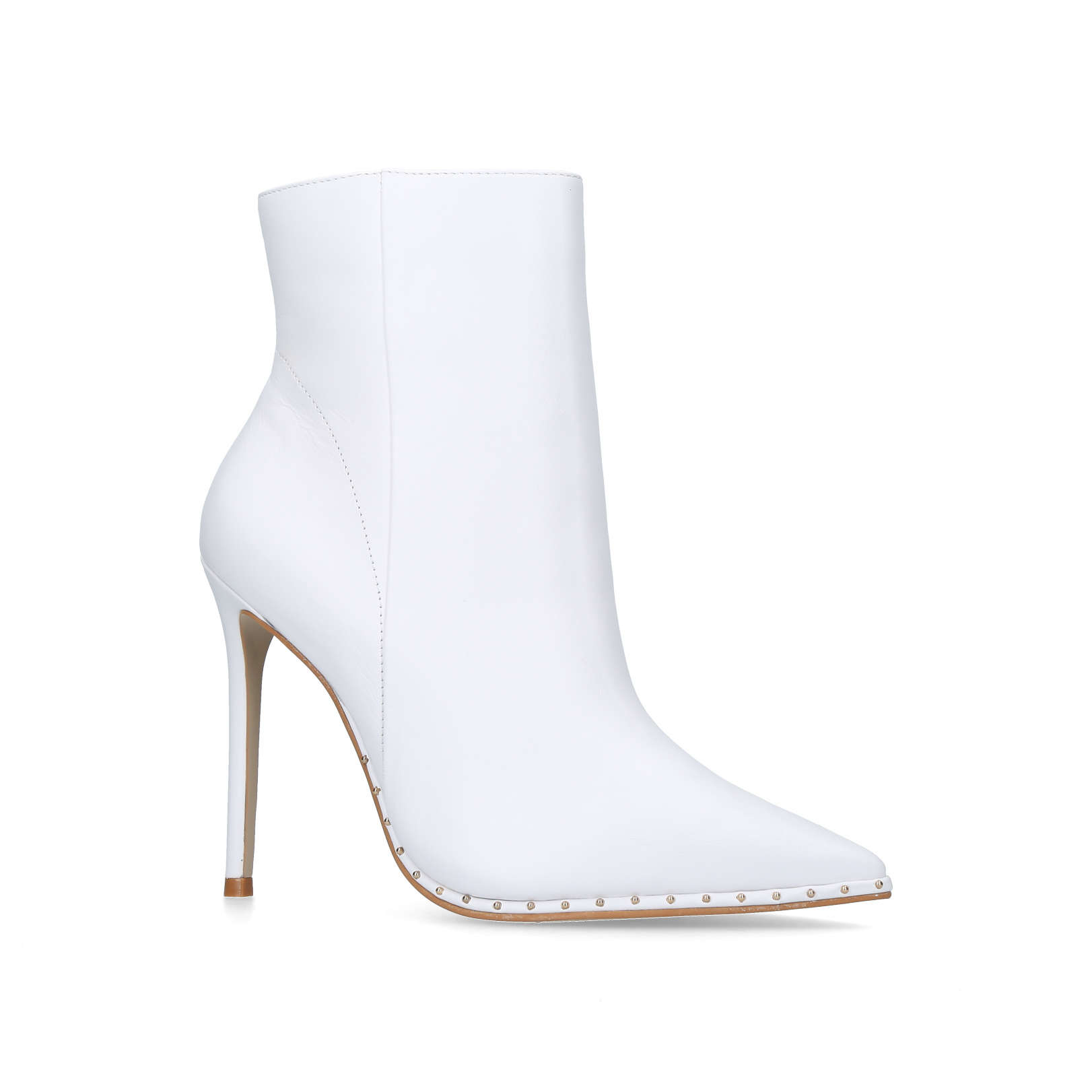 White Boots with Heel and Studs