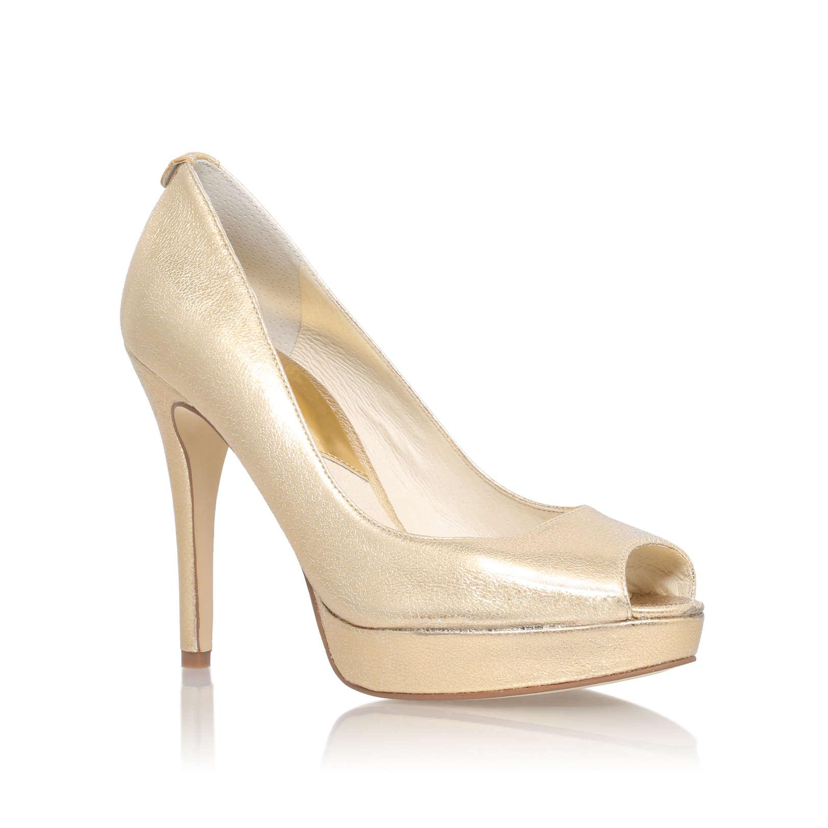 york platform michael michael kors york gold high heel court shoe by michael michael kors. Black Bedroom Furniture Sets. Home Design Ideas