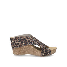 1e3c9cb7831e6 Sooty Leopard Print Mid Heel Wedge Sandals from Carvela Comfort
