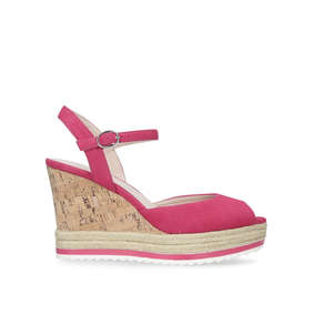 8a5a78a6882 Debi. Pink High Heel Wedge Sandal