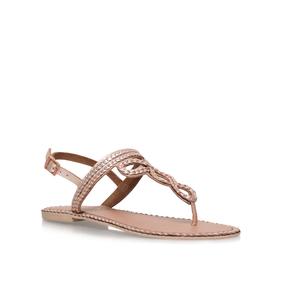Brill. Bronze Flat Sandal