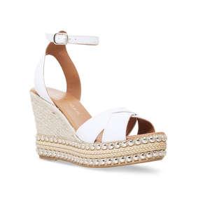 2b6d904934af Amelia White High Heel Wedge Sandals from Kurt Geiger London