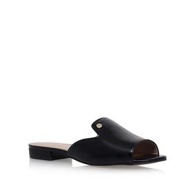 Ivy Black Flat Sandals By Kurt Geiger London 4SmOaRxc