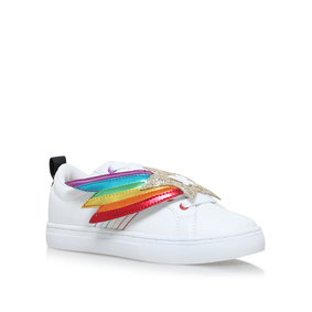 691101cdf383cb Superstar Girls White Low Top Trainers from Mini Miss KG