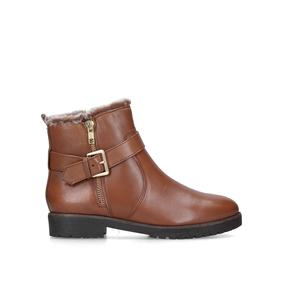 89a0fe9efdf8 Scout. Tan Leather Faux Fur Hiker Boots