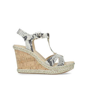 ff64dc5e1a Karoline Snake Print High Heel Wedge Sandals from Carvela