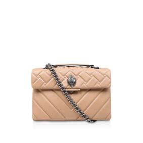 Leather Kensington X Bag Camel Leather Shoulder Bag from Kurt Geiger London 35ac63b96beb6
