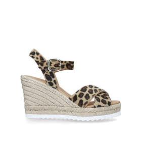 2b3e9ea7b3 Koy Leopard Print Espadrille Wedge Sandals from Carvela