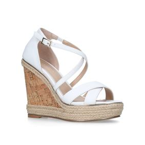 cfc72e7400aa06 Sublime White High Heel Wedge Sandals from Carvela. Sale