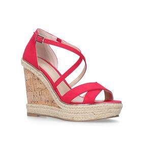 Sublime Pink High Heel Wedge Sandals from Carvela