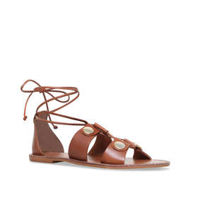 c7bfe05cf39327 Marci Tan Flat Lace Up Sandals from Kurt Geiger London