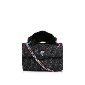8f75e055ec40 Tweed Mini Kensington X Black Embellished Mini Crossbody Bag from Kurt  Geiger London