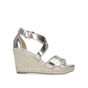 f08e358c161a Smashing. Metallic Espadrille Heel Wedge Sandals
