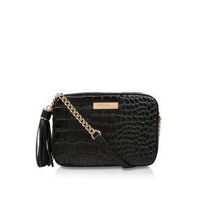 60c911489e Bessie Crc Xbody Tssl Trm. Black Croc Print Crossbody Bag