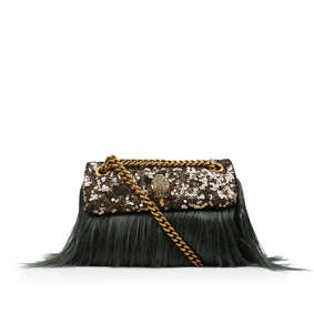 898677e0eb1c Faux Fur Mini Kensington. Sequinned Faux Fur Mini Shoulder Bag