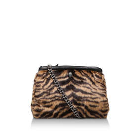 d458071a471f F Kensington Sm Clutch Leopard Print Faux Fur Clutch Bag from Kurt Geiger  London