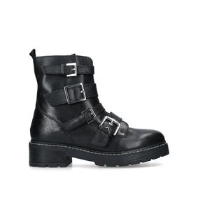 Sprint. Black Leather Hiker Boots b10fc44ee04c