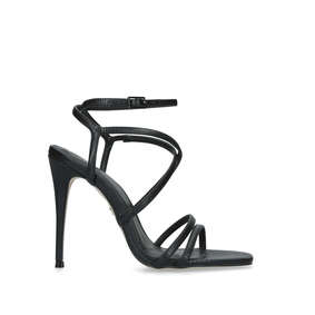 31c0d2b79d07a5 Alexis. Black Stiletto Heel Sandals