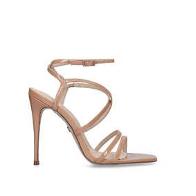 860eea392c427 Alexis. Nude Stiletto Heel Sandals