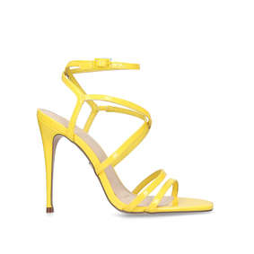 3e14a1f30 Alexis. Yellow Stiletto Heel Strappy Sandals